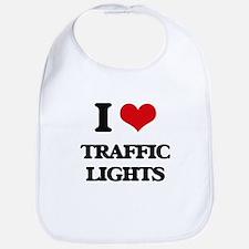 I love Traffic Lights Bib