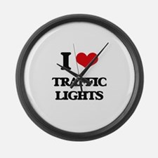 I love Traffic Lights Large Wall Clock