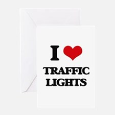 I love Traffic Lights Greeting Cards