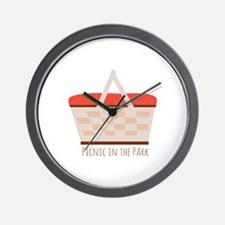 Picnic In The Park Wall Clock