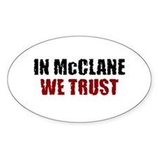 McClane Oval Decal