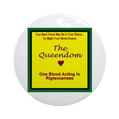 One Blood Acting In Righteousness Ornament (Round)