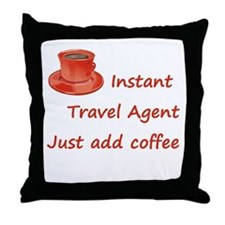 Instant Travel Agent Throw Pillow