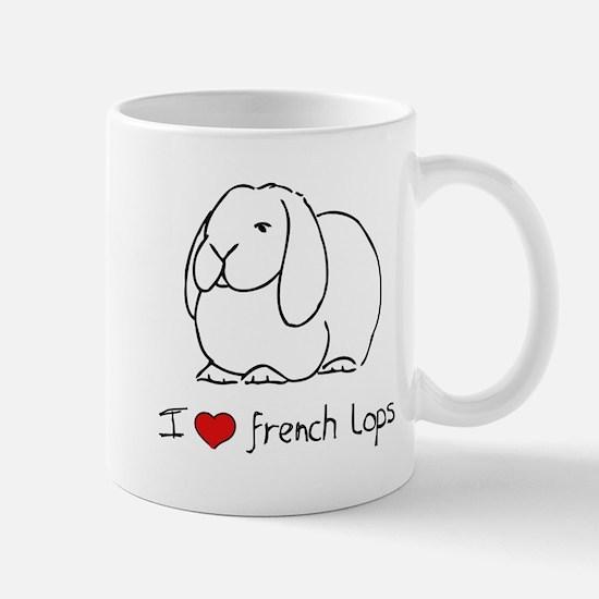 I Love French Lops Mug