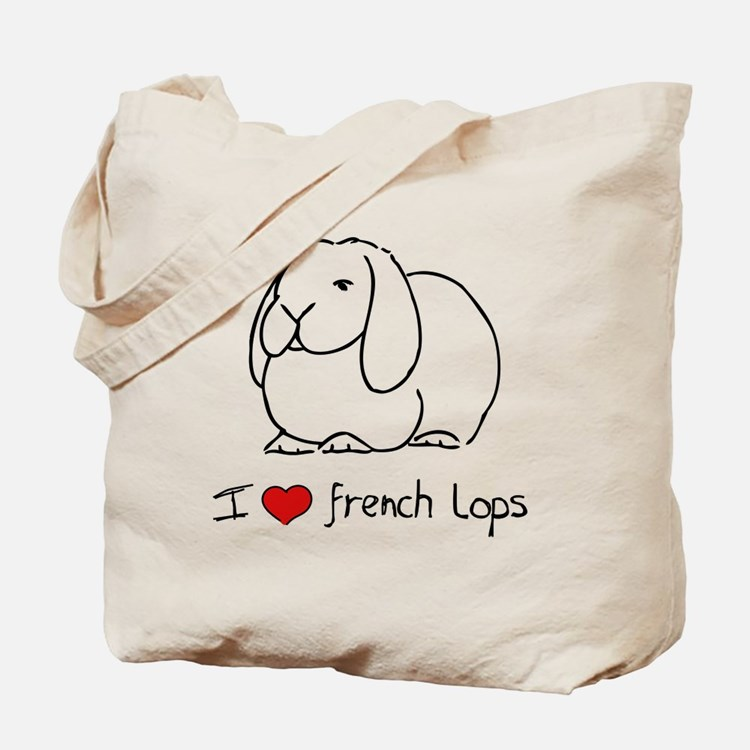 I Love French Lops Tote Bag