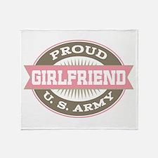 Proud US Army Girlfriend Throw Blanket
