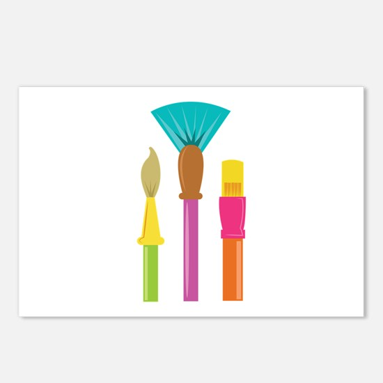 Paint Brushes Postcards (Package of 8)