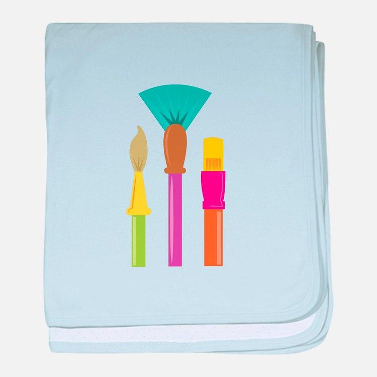 Paint Brushes baby blanket