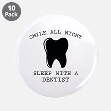 """Smile All Night 3.5"""" Button (10 pack)"""