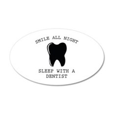 Smile All Night 22x14 Oval Wall Peel