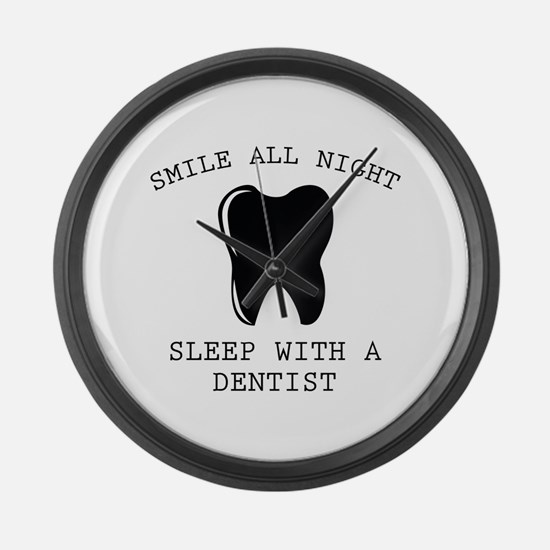 Smile All Night Large Wall Clock