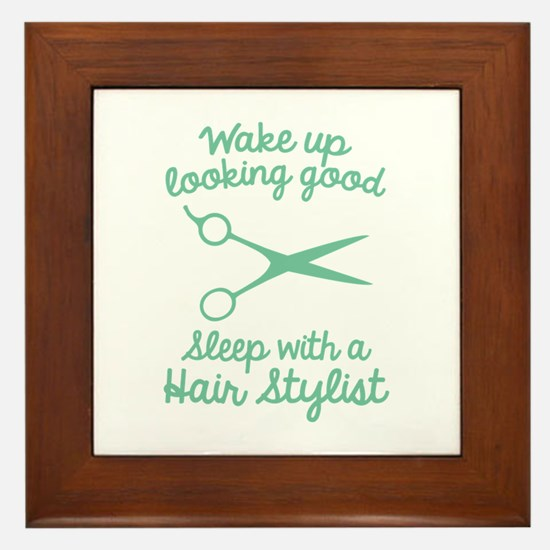 Wake Up Looking Good Framed Tile