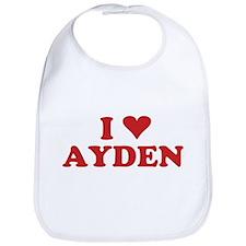 I LOVE AYDEN Bib