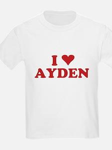 I LOVE AYDEN T-Shirt
