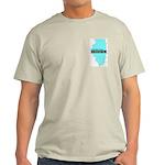 True Blue Illinois LIBERAL - Ash Grey T-Shirt