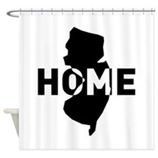 Home is where New Jersey is Shower Curtain