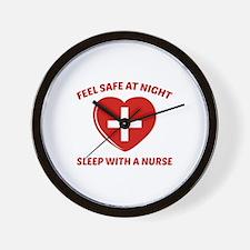 Feel Safe At Night Wall Clock