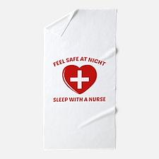 Feel Safe At Night Beach Towel