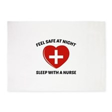 Feel Safe At Night 5'x7'Area Rug