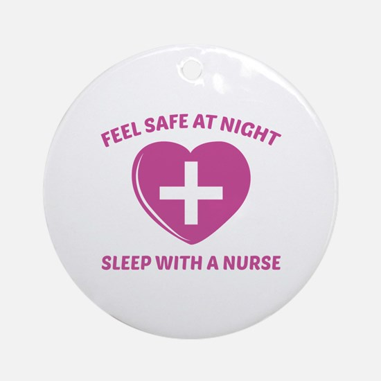 Feel Safe At Night Ornament (Round)