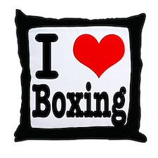 I Heart (Love) Boxing Throw Pillow