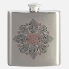 The Tudor Rose Pink Diamond Flask