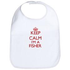 Keep calm I'm a Fisher Bib
