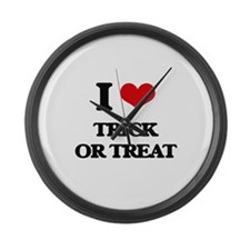 I love Trick Or Treat Large Wall Clock