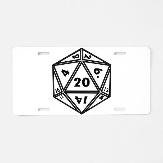 d20 Aluminum License Plate