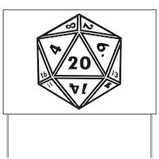 d20 Yard Sign
