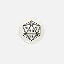 d20 Mini Button (10 pack)