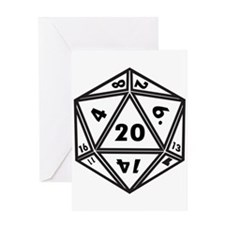 d20 Greeting Cards
