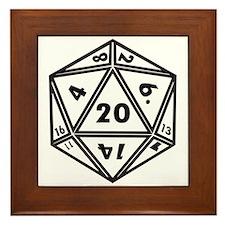 d20 Framed Tile