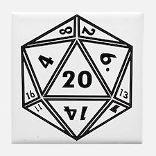 d20 Tile Coaster