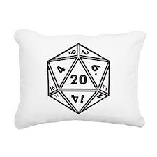 d20 Rectangular Canvas Pillow