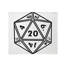 d20 Throw Blanket