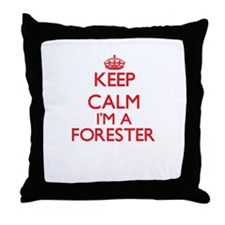 Keep calm I'm a Forester Throw Pillow