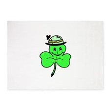 Cartoon Shamrock 5'x7'Area Rug