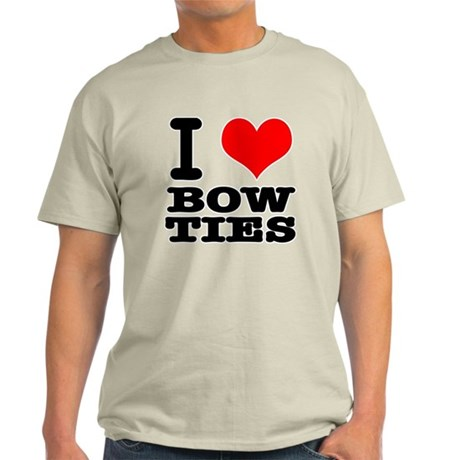I Heart (Love) Bow Ties Light T-Shirt