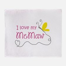 LOVE MY MEMAW Throw Blanket