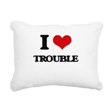 I love Trouble Rectangular Canvas Pillow
