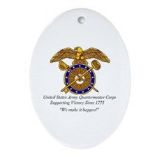Quartermaster Corps Oval Ornament