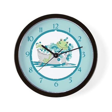 Frog In Tub Bathroom Clock Wall Clock By Artbyjessie