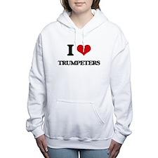 I love Trumpeters Women's Hooded Sweatshirt