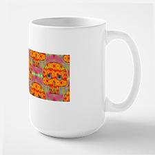 Robot Skull Pattern Rainbow Background Mugs