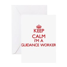 Keep calm I'm a Guidance Worker Greeting Cards
