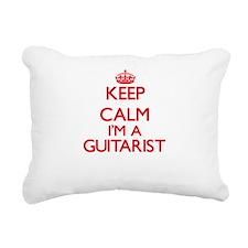 Keep calm I'm a Guitaris Rectangular Canvas Pillow