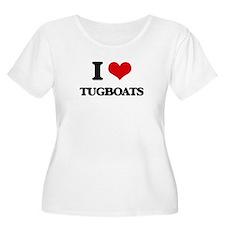 I love Tugboats Plus Size T-Shirt