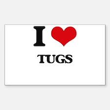 I love Tugs Decal