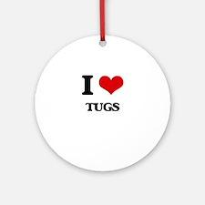 I love Tugs Ornament (Round)